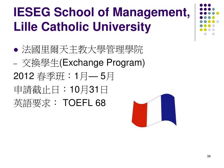 IESEG School of Management, Lille Catholic University