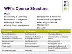 wfi s course structure