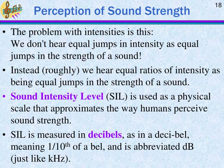 Perception of Sound Strength