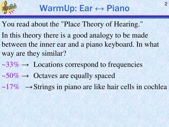 Warmup ear piano