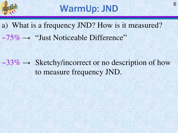 WarmUp: JND