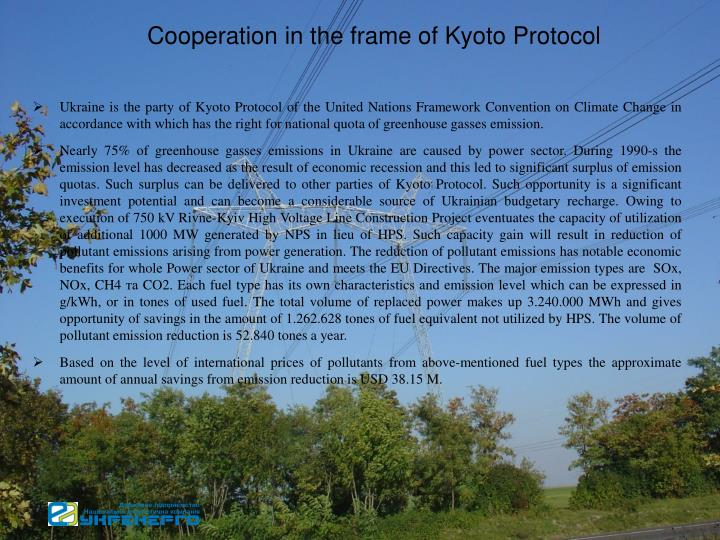Cooperation in the frame of Kyoto Protocol