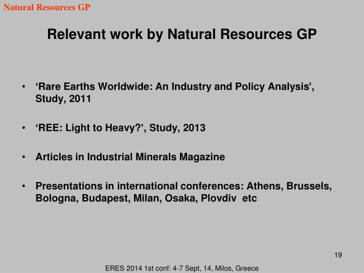 Natural Resources GP