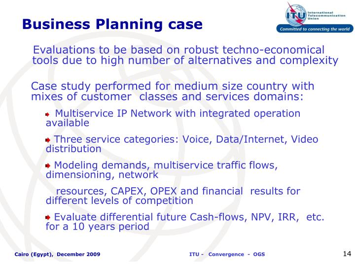 Business Planning case