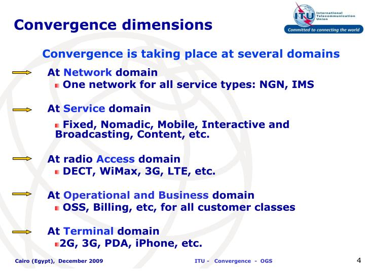 Convergence dimensions