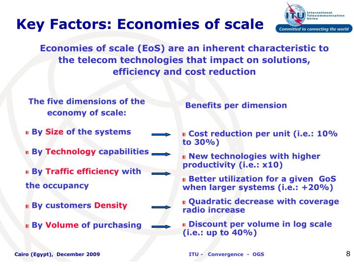 Key Factors: Economies of scale
