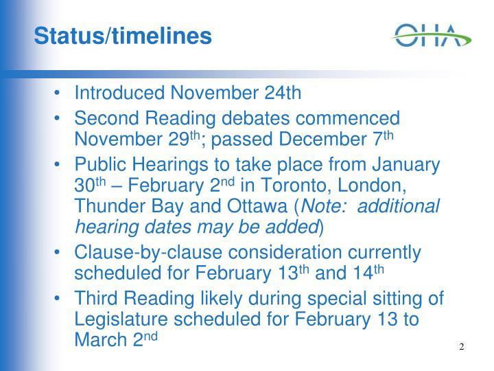 Status/timelines