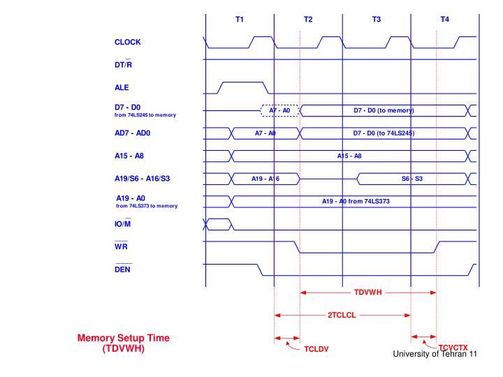 Memory Setup Time (TDVWH)