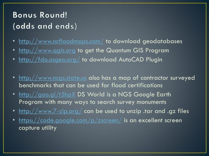 Bonus Round!