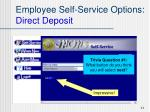 employee self service options direct deposit1