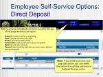 employee self service options direct deposit4