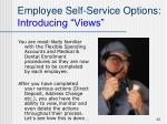employee self service options introducing views