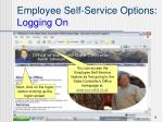 employee self service options logging on