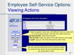 employee self service options viewing actions1