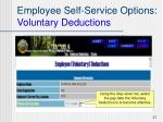 employee self service options voluntary deductions1