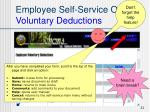 employee self service options voluntary deductions4
