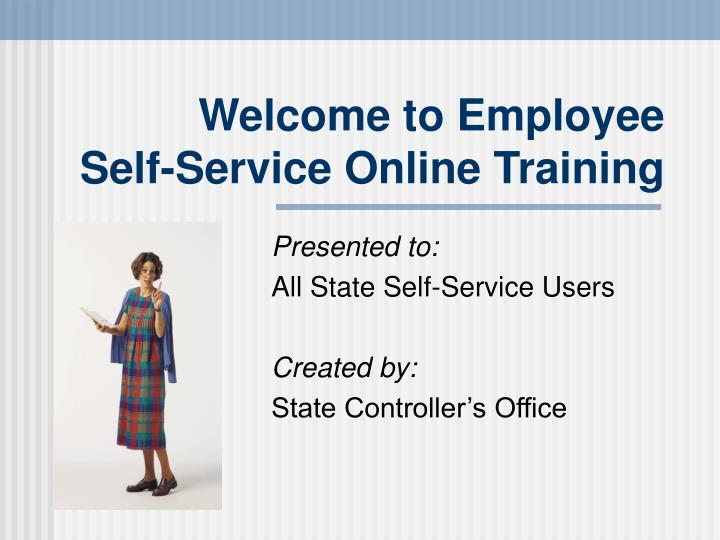 Welcome to employee self service online training