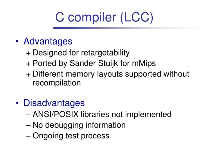 C compiler (LCC)