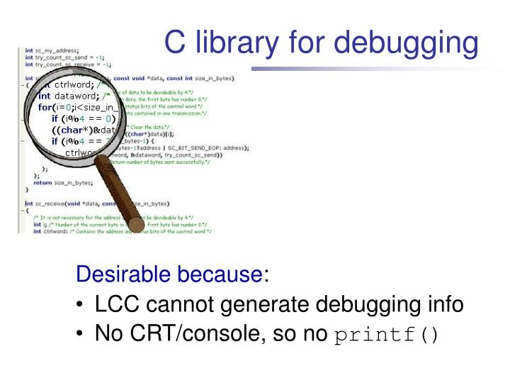 C library for debugging
