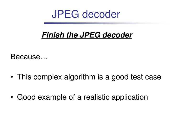 JPEG decoder