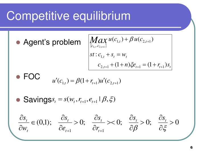 Competitive equilibrium