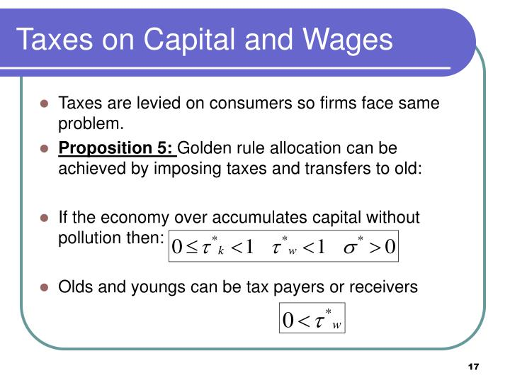 Taxes on Capital and Wages