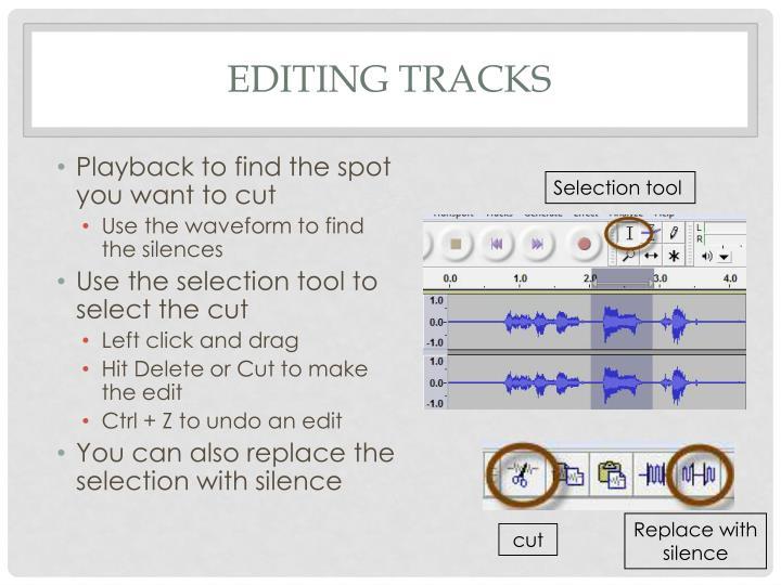 Editing tracks