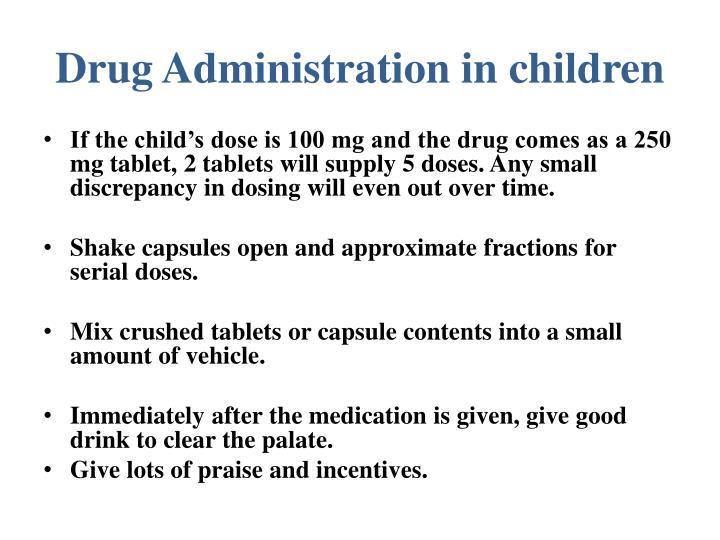 Drug Administration in children