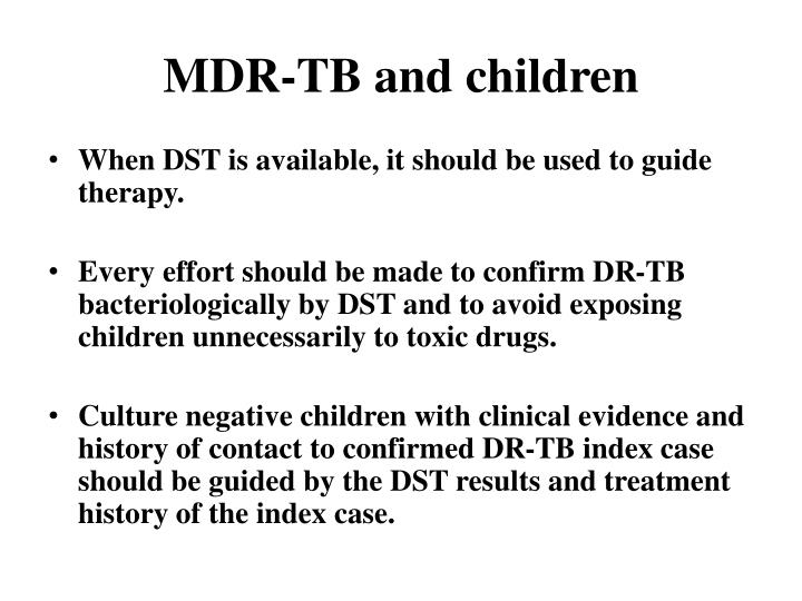 Mdr tb and children
