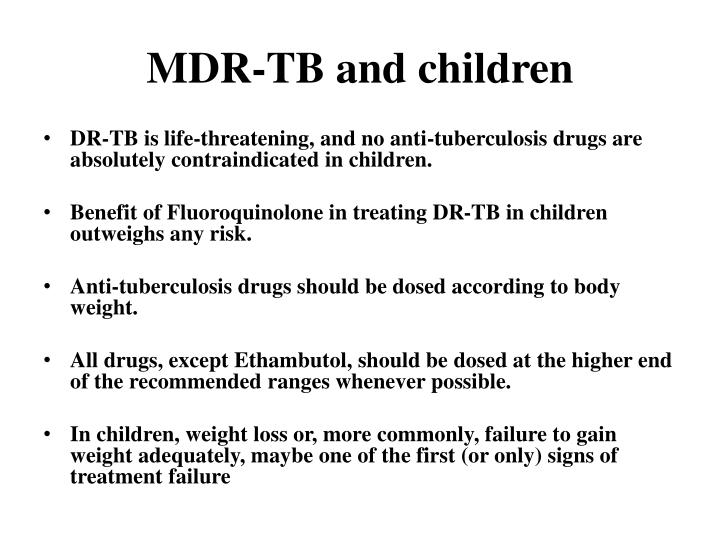 MDR-TB and children