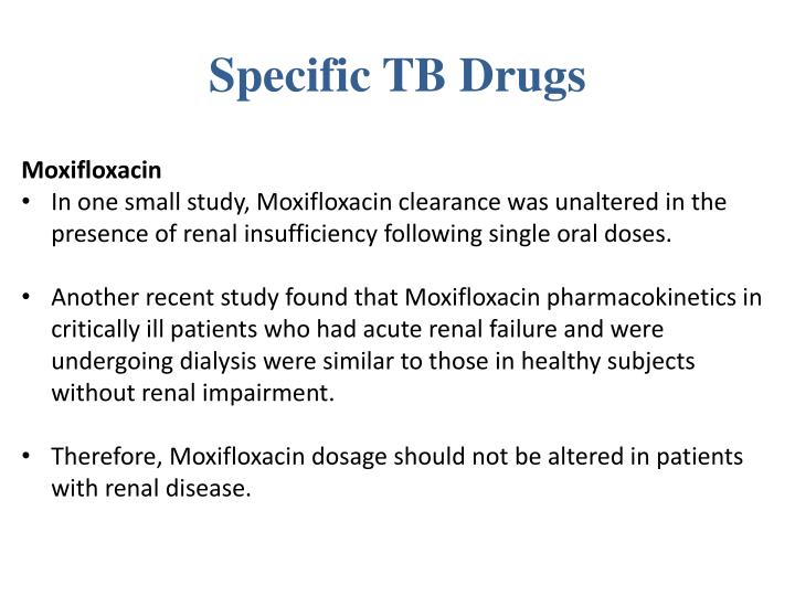 Specific TB Drugs