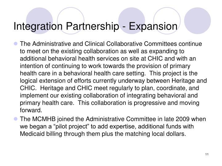 Integration Partnership - Expansion