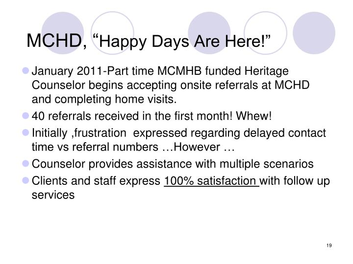 "MCHD, """