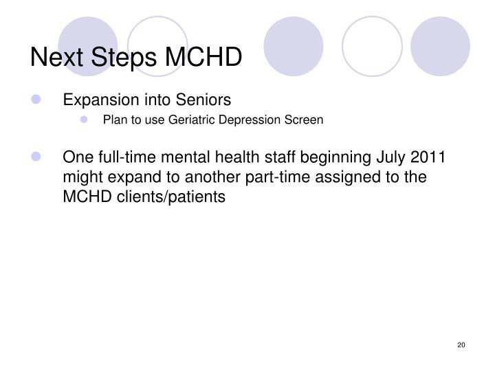 Next Steps MCHD