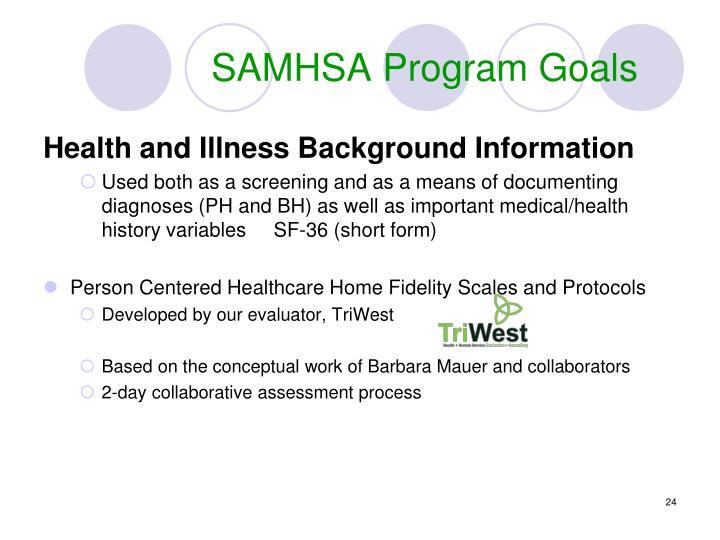 SAMHSA Program Goals