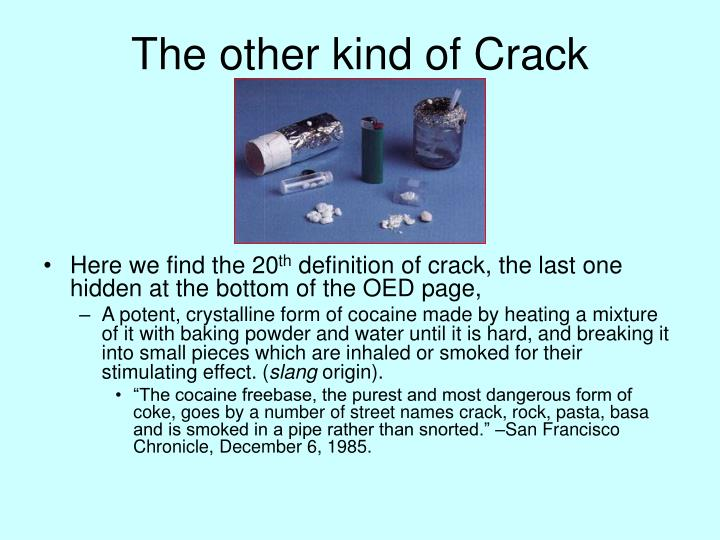 The other kind of Crack