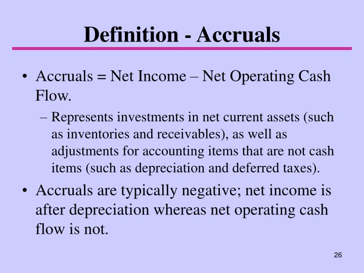 Definition - Accruals