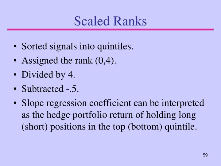 Scaled Ranks