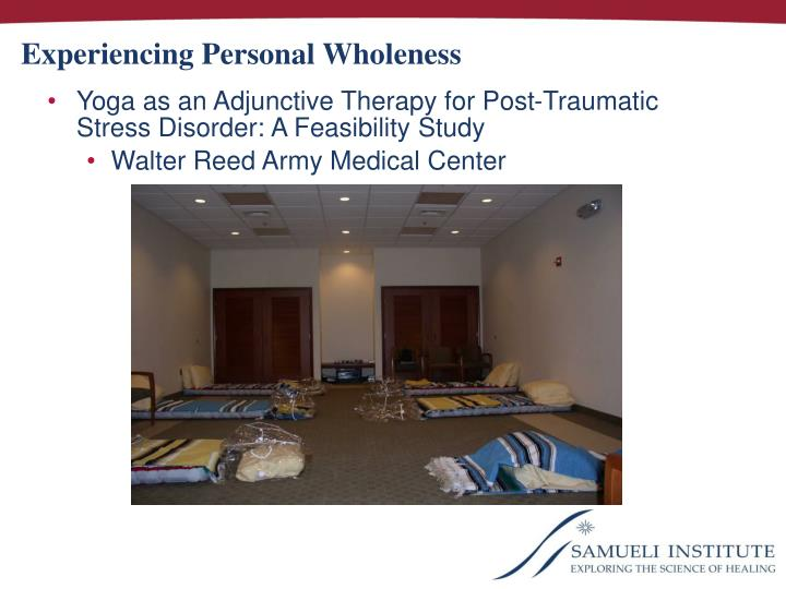 Experiencing Personal Wholeness