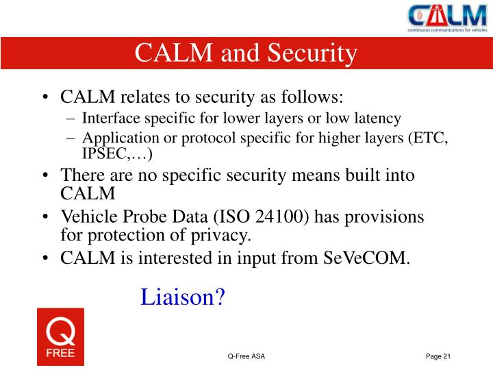 CALM and Security