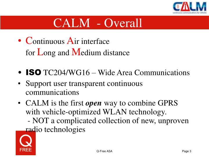 CALM  - Overall