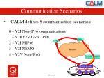 communication scenarios