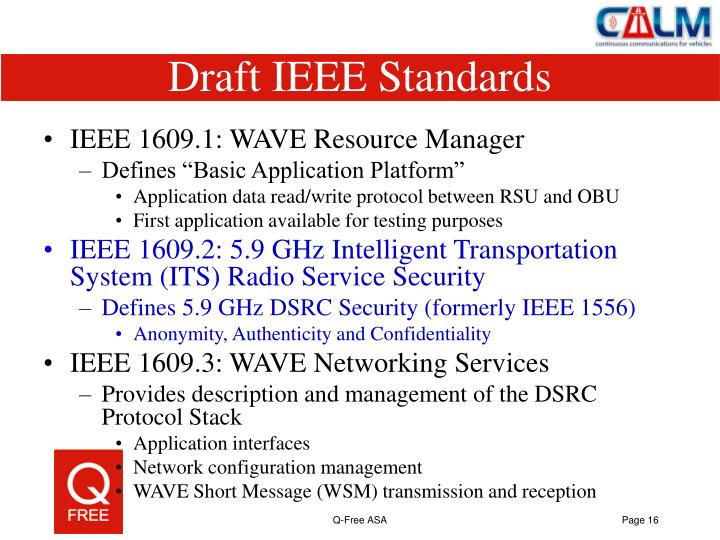 Draft IEEE Standards