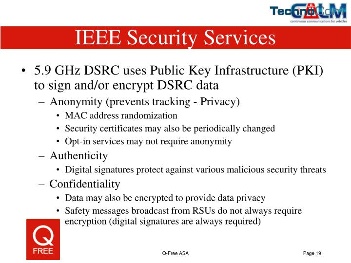 IEEE Security Services
