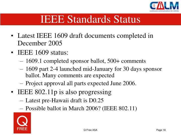 IEEE Standards Status