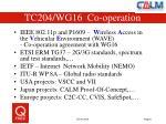tc204 wg16 co operation