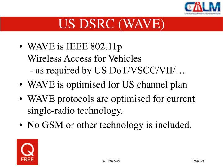 US DSRC (WAVE)