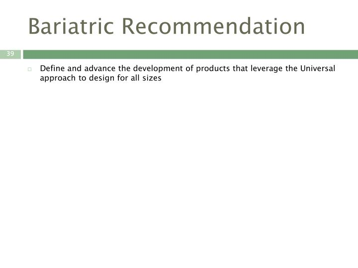 Bariatric Recommendation