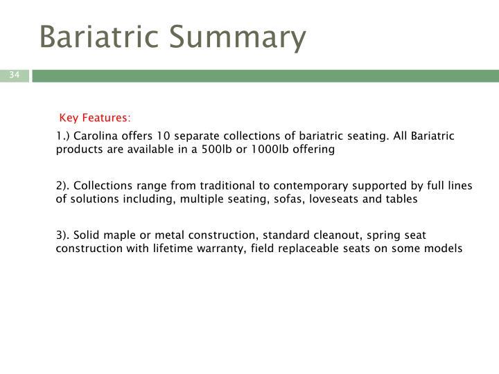 Bariatric Summary