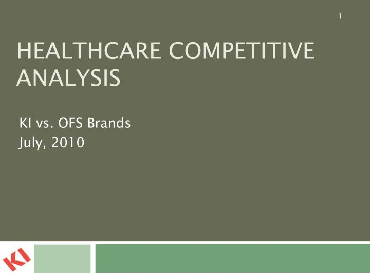 Healthcare competitive analysis